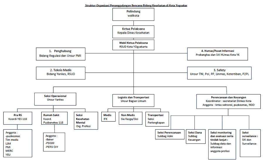 Struktur Organisasi Tim Penanggulangan Bencana Dinas ...